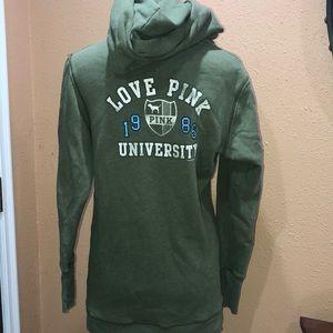 Love pink green hoodie